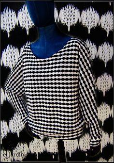 Jersey en blanco y negro    (ref: 8413001)