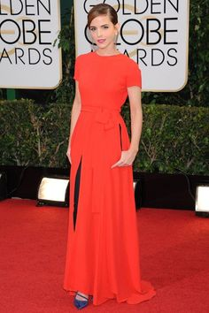 Emma Watson in Dior Couture at event of The Golden Globes 2014 | front