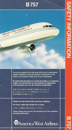 america west boeing 757 America West Airlines, Job Interview Preparation, Us Airways, Work Anniversary, Airline Tickets, Over The Years, Aviation, Nostalgia, Safety
