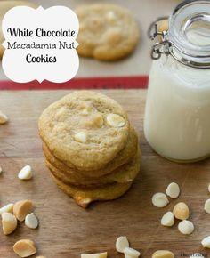 white chocolate macadamia nut cookies | i heart eating