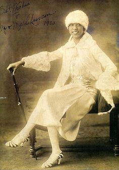 Josephine Baker at age 16, in 1923, when this photo was made of Baker, she was performing in Shuffle Along, the popular musical by Eubie Blake and Noble Sissle.