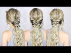 3 QUICK AND EASY HAIRSTYLES - YouTube