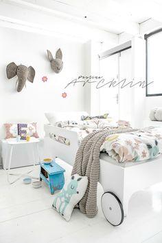 Rafa-kids WHITE toddler bed & Moshi Moshi Kids