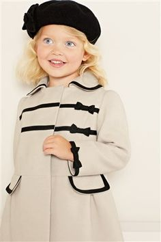 Cream Bow Frame Coat (3mths-6yrs) from the Next UK online shop
