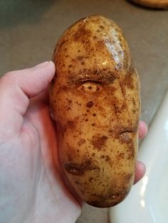 19 Pictures That Undoubtedly Require A Double Take    This potato that looks like a person and has a perfectly formed eye and eyebrow.