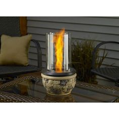 Ledgestone venturi flame table top fire pit is a in and outdoor fire