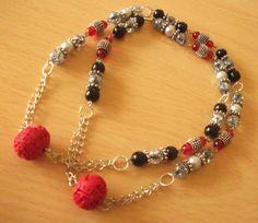 Cinnabar Necklace by InspiredByKarma on Etsy, $20.00
