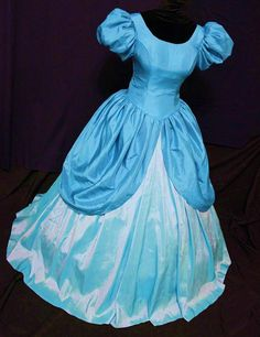 Ariel Little Mermaid Adult Cosplay Costume Ball Gown Dress