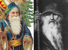 Odin as Santa Claus and other Norse Yule myths - BrodgarBrodgar Origin Of Santa, Origin Of Christmas, Pagan Christmas, Primitive Christmas, Retro Christmas, Country Christmas, Christmas Christmas, Yule Traditions, Papa Noel