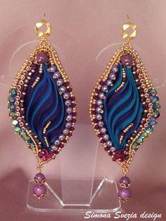 Orecchini / Earrings PASSION TEAL con seta