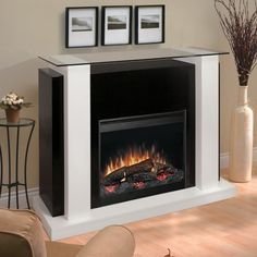 Dimplex Bella White Black Electric Fireplace - Nativefoodways