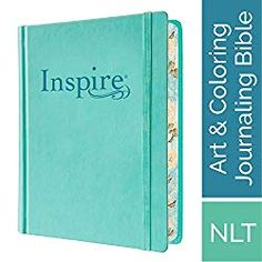 FREE [PDF] Tyndale NLT Inspire Bible Hardcover Aquamarine Journaling Bible with Over 400 Illustrations to Color Coloring Bible with Creative Journal Space Religious Gift that Inspires Connection with God Free Epub/MOBI/EBooks New Living Translation Bible, Bible Journaling For Beginners, Art Journaling, Free Bible, Creative Journal, Religious Gifts, Scripture Art, To Color, Coloring Bible