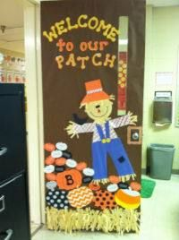 Fall School Door Decorating Ideas