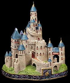 The Castle of the Merry Ghost – Windstone Editions Castle Party, Fairytale Cottage, Collectible Figurines, Spring Green, Abandoned, Fantasy Art, Fairy Tales, Medieval, Castles