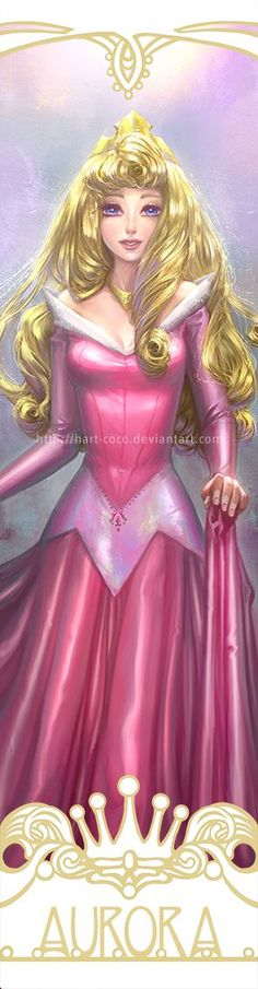 Disney Princesses Bookmarks: Sleeping Beauty by hart-coco.deviantart.com on…