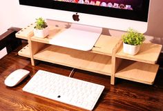 Monitor display Stand file cabinet wooded office desk storange IPAD Iphone holder pen case TAKE HOME