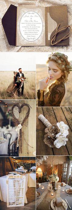 elegant fall vintage wedding ideas and invitations