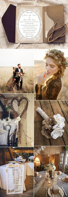 elegant fall vintage wedding ideas and invitations
