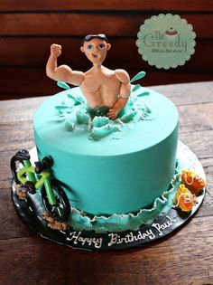 Triathlon Cake - Cake by Kate