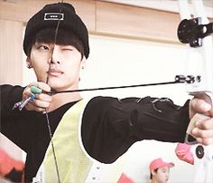 N being hot and wielding a bow. HOT VIXX