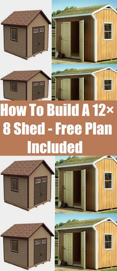 How To Build A 12×8 Shed-Free Plan Included