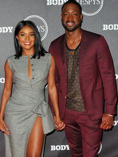 Para inspirar os casais!💟 Uma combinação fashion do casal estiloso #gabrielleunion e #dwyanewade! Cinza e vinho. Lindos!  Adorei os dois e me apaixonei pelo vestido!😆 #creative #fashion #couplestyle