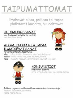 #sanaluokat #taipumattomat School Fun, Primary School, School Stuff, Finnish Language, Second Language, Writing Skills, Grammar, Language Arts, Finland