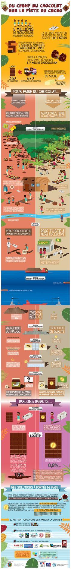 Infographie : le coût caché du cacao | Ethiquable