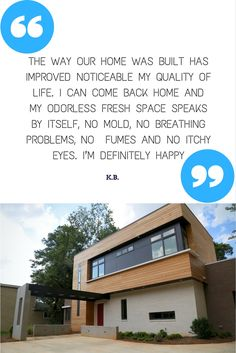 Testimonial from a client of a custom home