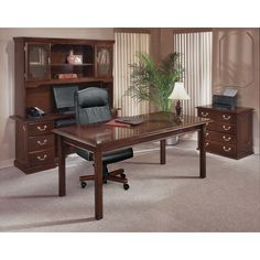 Found it at Wayfair - Governor's 4-Piece Standard Desk Office Suite