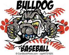 Vector - bulldog baseball - stock illustration, royalty free illustrations, stock clip art icon, stock clipart icons, logo, line art, EPS picture, pictures, graphic, graphics, drawing, drawings, vector image, artwork, EPS vector art