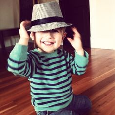 childrenwithswag:  Fedorable Avery Dax, 18 months
