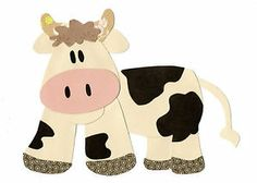 Farm Quilt Patterns for Free | Farm Cow Quilt Applique Template Pattern Farm Animals Barnyard ...