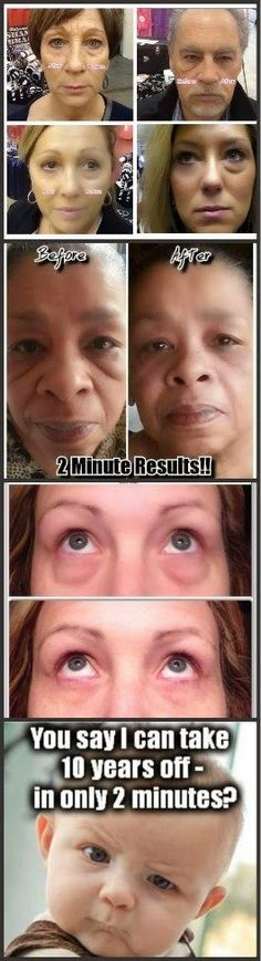 Look younger in 2 Minutes! New product, #InstantlyAgeless removes wrinkles and bags for 8-10 hrs and provides long-term reduction one day at a time!  #wrinklefree http://www.kellylocker.jeunesseglobal.com