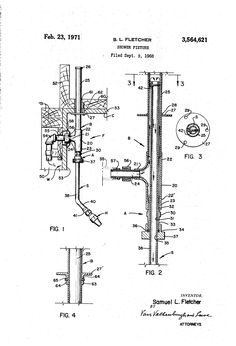 Patent US3564621 - Shower fixture - Google Patents Shower Fixtures, Patent Pending, Shower Heads, Google, Rain Shower Heads