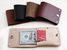 Slim Wallet Men's Custom Leather Wallet Minimalist Rivet Wallet by San Filippo Leather Minimalist Leather Wallet, Slim Leather Wallet, Handmade Leather Wallet, Leather Gifts, Slim Wallet, Leather Men, Men Wallet, Leather Tooling, Leather Bags