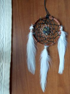 Boho Dream Catcher with Abalone Sea Shell by GratefullyDreaming