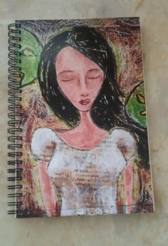 #etsy $10 Perfect for the writer in your life! Spiral bound journal featuring the artwork of Allison Weeks Thomas. #gift