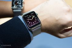 """Apple Watch: I think it'll be this one--stainless, small face, milanese band // via Hodinkee's awesome """"A Watch Guy's Thoughts On The Apple Watch After Seeing It In The Metal"""""""