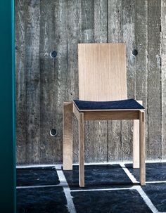 Handmade chair with a special design. It is custommade in different colours of linoleum and sort of wood. #cabinetmaker #wood #home http://www.kjeldtoft.com/