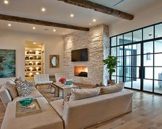 Living Room White Walls, Dark Wood Floors, French Design, Pictures, Remodel, Decor and Ideas - page 16