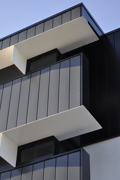 The Village @ Coorparoo, Brisbane - Retirement Village by Architects Building 1 - Metal Cladding + Steel Awnings Brisbane Architecture, Concept Architecture, Facade Architecture, Cladding Design, Metal Cladding, External Cladding, Facade House, Apartment Design, Building Design