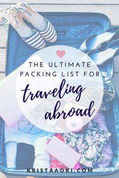 International Packing List   what to pack when you travel abroad to another country. the essentials for international travelers when they visit foreign countries. free printable packing checklist included over at the lifestyle