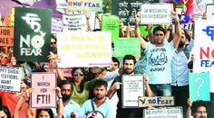 Film fraternity joins march in solidarity with FTII students