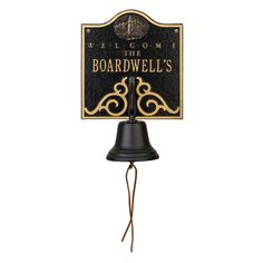 Personalized Lighthouse Welcome Bell Nautical Plaque.  www.everythingnautical.com