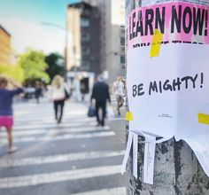 Everyday we have an opportunity to #bemighty and #followyourpath even in the #goodtimes and bad - everything can be an experience of #learning if we seek guidance and ask for #enlightenment to be guided through the rough waters to reach the shore we seek. #quotesforlife #lifelessons #acceptance #forgiveness #streetarteverywhere #streetart #nyc #motivation