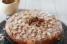 MasterChef winner Shelina Permalloo shares a favourite cake recipe a treat that is deliciously moist and also gluten and lactose free Gf Recipes, Cooking Recipes, Cinnamon Cake Recipes, Creative Snacks, Moist Cakes, Cooking Light, Gluten Free Desserts, Sweet Tooth, Almond