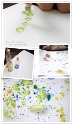Sponge too bottle painting Kindergarten Art, Preschool Art, Fun Crafts, Crafts For Kids, Arts And Crafts, Projects For Kids, Art Projects, Atelier D Art, Bottle Painting