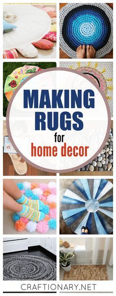 Making rugs in creative ways for home decor purpose. Find easy tutorials to make DIY rugs for any space indoor/ outdoor with no-sew & easy-sew instructions. You are in the right place about DIY Rug st Crochet Braids For Kids, Homemade Rugs, Diy Carpet, Carpet Ideas, Beige Carpet, Stair Carpet, Hall Carpet, Carpet Trends, Cheap Carpet