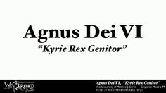 "Agnus Dei VI, ""Kyrie Rex Genitor"", Vocals by Matthew J Curtis.  For scores and download-able MP3s, please visit: http://antoinedanielmass.org/kyriale/VI/  Vocals courtesy of Matthew J Curtis: http://chanttracks.com/  St Antoine Daniel, ora pro nobis."
